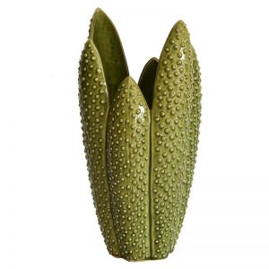 Ceramic Cactus Green Vase