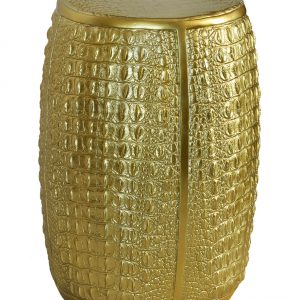 Crocodile Stool Gold