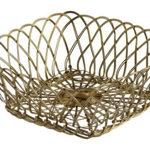 Iron Gold Basket Square