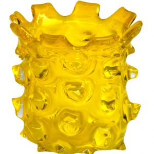 Thorn Glass Hurricane Yellow